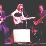 Special guest Sue Foley performs with the all-star band at the Maple Blues Awards show at the Pheonix Concert Theatre. On her right: Teddy Leonard,Pat Carey on her left.