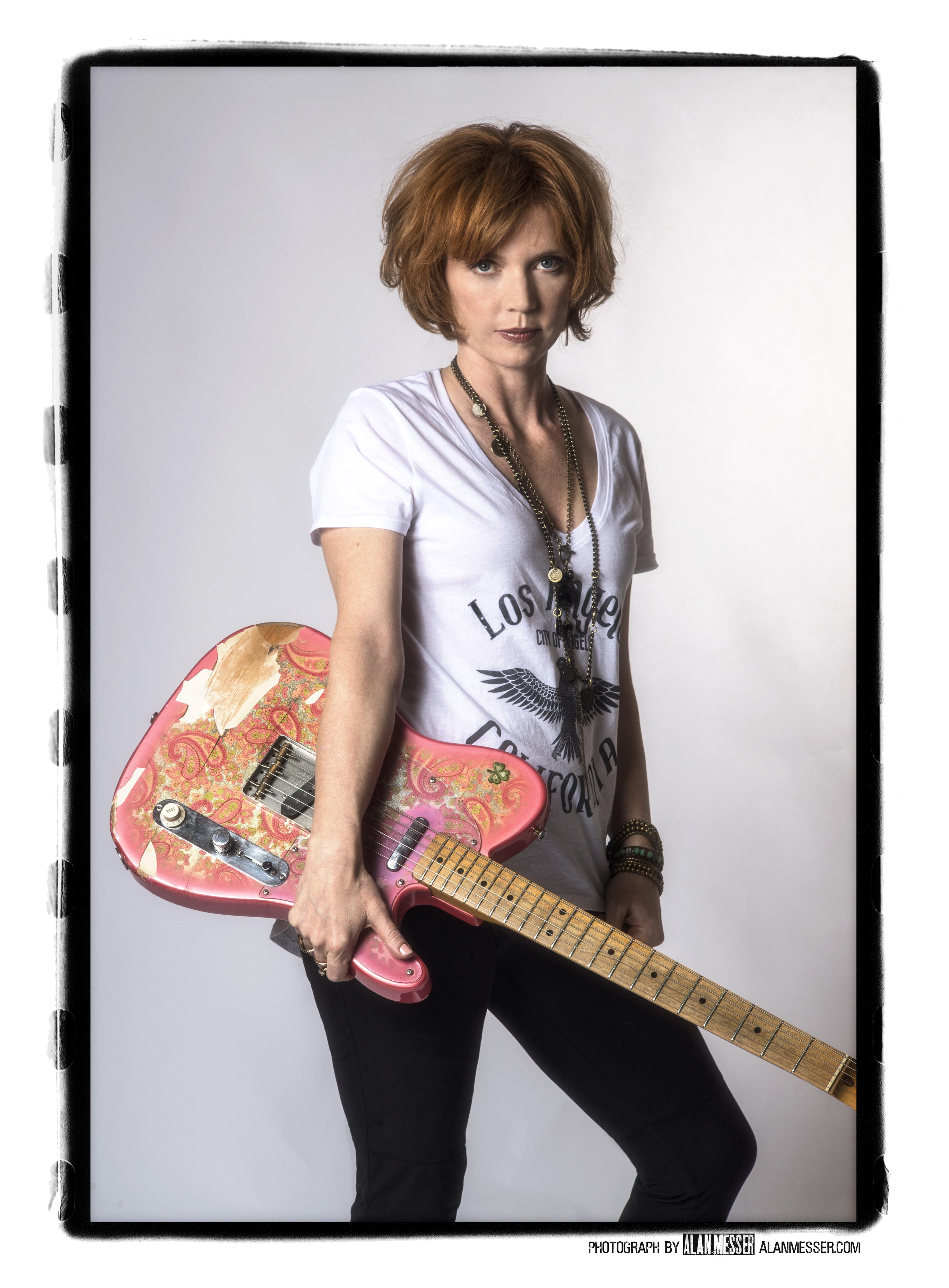 Female blues guitarist