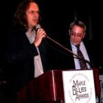 L to R: TBS president Derek Andrews, NorthernBlues' Fret Litwin